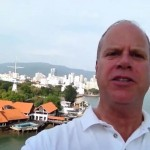 Martin Gerretsen in the port of George Town on the island of Penang.