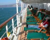 Solo passengers can feel comfortable anywhere on a cruise ship.