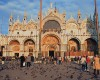St. Mark's Square in Venice is the epicenter of tourist visits for its beautiful Byzantine architecture.